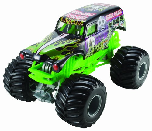 Hot Wheels Monster Jam Grave Digger Die-Cast Vehicle, 1:24 (Wars Star Hot Girls)