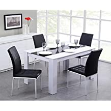 Amazon Fr Table Et Chaise Salle A Manger Blanc