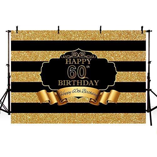 Mehofoto Foto-Studio-Hintergrund mit glänzenden goldfarbenen Pailletten zum 50. Geburtstag Party Banner Hintergründe für Fotografie (Vinyl Mit Hintergrund-stand)