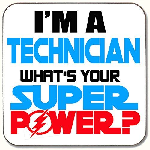 I 'm a Techniker What 's Your Super Power Getränke Untersetzer ideale Geschenk