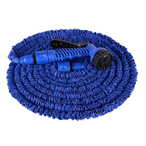 MCL-schlauchaufroller Gartenausdehnungsschlauch, 3-Fach Flexibler Ausdehnungswasserschlauch | Verbindungsstücke für magische Schläuche | 7 Funktionsspritzpistole (Farbe : Blau, größe : 30M) - Tür-hardware Wagen