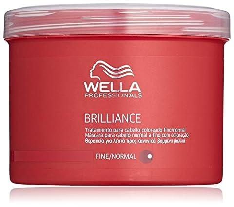 Wella Professionalss Brilliance unisex, Mask für feines bis normales, coloriertes Haar 500 ml, 1er Pack (1 x 1 Stück)