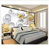 3d fond d'écran personnalisé décoration de la maison 3d fonds d'écran de fleurs...