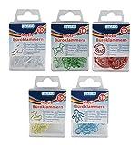 50 (5x 10) Motiv-Briefklammern / Büroklammern / 5 verschiedene Farben und Motive