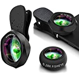 Yarrashop Wavy Lines Design Professional HD Phone lens-Phone Lenses With 0.6x Super Wide Angle+15x Macro Lens+0.28x Fisheye Lens Compatible With iPhone,Samsung,Huawei,Xiaomi,iPad,etc (3 in 1)
