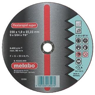Metabo 616217000 616217000-Disco de tronzar para Amoladora Angular Flexiarapid Super A60-U-BF INOX HidroResist. embutido Ø 115 x 1,0 x 22,22 mm (Envase de 25 Ud)