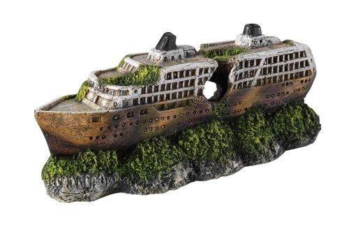 Europet Bernina 234-406434 Aquariendekoration Mini-Cruiser Ship, 19.5 x 7.5 x 8 cm