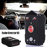 Gaddrt 360gradi auto rilevatore di velocità anti radar detector V8LED display