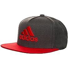 adidas X Flat Cap Gorra de Tenis, Hombre, Gris (Brgros / Rojo / Griosc), M