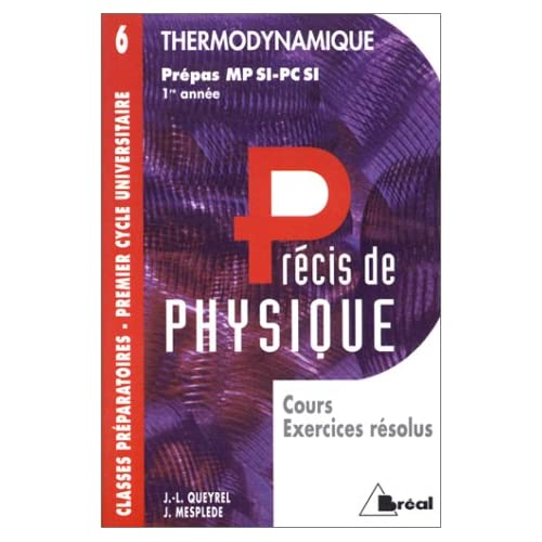 Thermodynamique : MPSI, PCSI