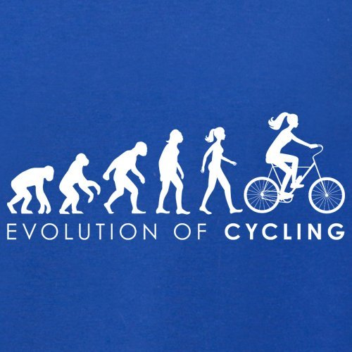 Evolution of Woman - Radfahrerin - Herren T-Shirt - 13 Farben Royalblau