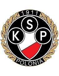 KSP Polonia Warszawa Poland Soccer Football Alta Calidad De Coche De Parachoques Etiqueta Engomada 12 x 12 cm