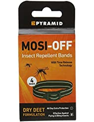 Pyramid Mosi-Off Insect Repellent Bands - 4 Pack