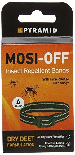 Bandas repelentes de insectos Mosi-off, paquete de 4 unidades