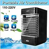 #7: Cartshopper 110-220V Mini Handy Cooler Evaporative Air Cooler Air Conditioner Cooler Personal Space Cooling Fan