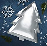 Ginger Ray Silver Foiled Christmas Tree Shaped Paper Plate - Silver Christmas