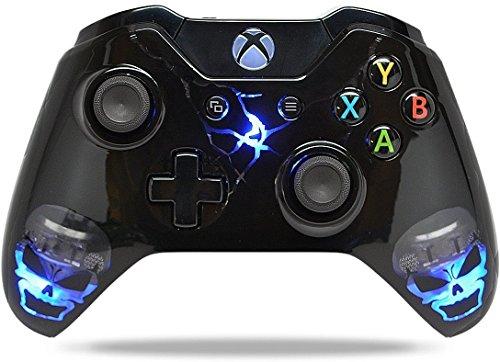 Skulls Schwarz Xbox One Custom un-modded Controller Exklusive Illuminating Design mit 3,5Klinke with LED on/Off Switch (Controller Billig Xbox Modded)