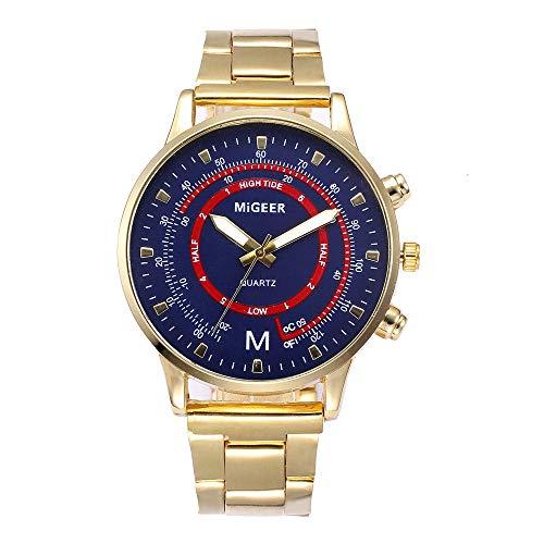 Celucke Quarz Uhr Herren Armbanduhr mit Edelstahl Metallarmband, Männer Uhren Business Herrenuhr Elegant Analoguhr Minimalistische Sportuhr Klassisch Quarzuhr