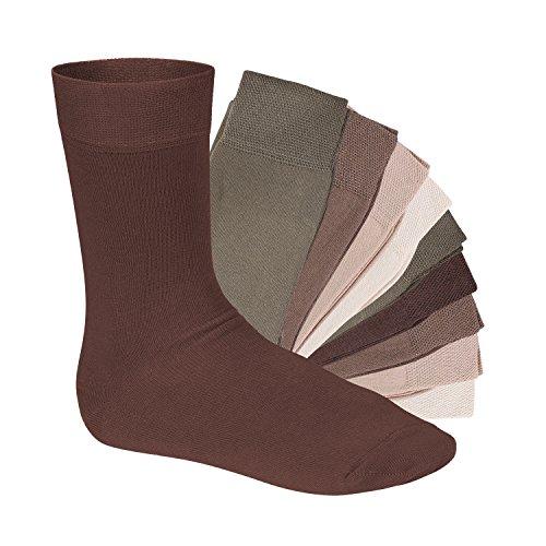 Footstar 10 Paar EVERYDAY! Unisex Socken Naturtöne-47-50