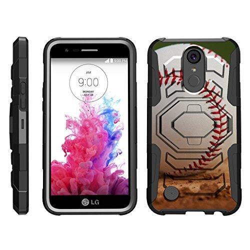 turtlearmor | Kompatibel für LG K20V Fall | K20Plus Fall | K102017Case [Octo Guard] Heavy Impact Schutzhülle Tough Hard Ständer Gürtelclip Holster Sport und Spiel -, Baseball Dirt (Verizon Lg Screen Protector)