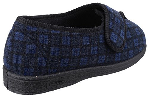 Comfylux George Mens Slipper Bleu - Bleu marine