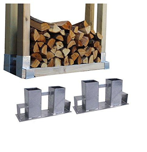 *2x Holzstapelhilfe Feuerverzinkt Stapelhilfe Holzstapelhalter Brennholz Kaminholz Gestell Holz*