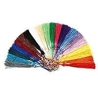 Yoogeer 100pcs/lot 10 Colors Polyester Silk Drop Fringe Tassel Pendant for DIY Craft Jewelry Making Findings Earring Handmade Ornament