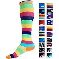 Infinity - Par de calcetines de compresión para hombre y para mujer, la mejor opción para correr, para enfermeros, para las espinillas, para viajar, para esquí y para embarazo, aumenta la resistencia atlética y la recuperación -  -  L-XL