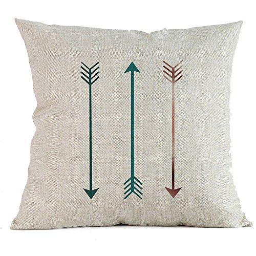 Pgojuni Geometrischer Kissenbezug für Sofa, Bett, Zuhause, Grün/Blau 45cm*45cm/18