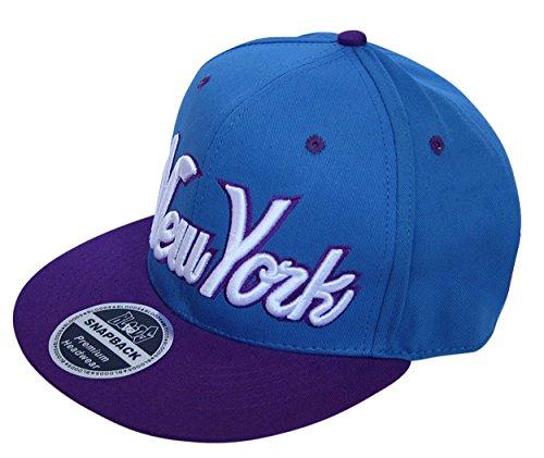 Bloods Headwear - Casquette de Baseball - Homme taille unique - Bleu - Blue and purple - Taille unique