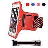 EOTW Sportarmband Handyhülle universell passend für iPhone, Samsung, HTC, usw., Oberarmtasche In Verschiedenen Farben und Größen für Laufen (Rot, 4,7 Zoll)