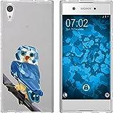 PhoneNatic Case für Sony Xperia XA1 Silikon-Hülle Vektor Tiere M1 Case Xperia XA1 Tasche + 2 Schutzfolien