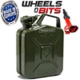 Wheels N Bits METAL POWER COATED INSIDE AN OUT JERRY CAN 5L LITRE CAN WITH SPOUT