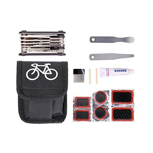 Fahrrad Repair Tool Kit - Pawaca 16 in 1 Multi-Bike Repair Fix Kit mit Reifen Reparatur Griff