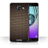 Coque de Stuff4 / Coque pour Samsung Galaxy A5 (2016) / Or Design / Motif de Fibre de Carbone Collection