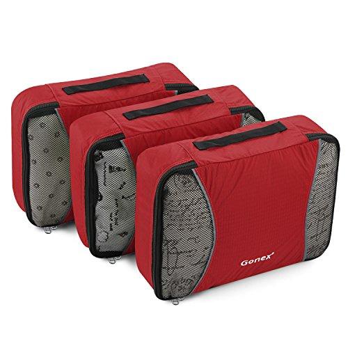 Gonex Kit de Organisateur Valise Sacs de Rangement Cube Housse Vetement Voyage