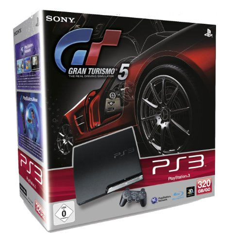 PS3 - Konsole Slim Black 320GB (K-Model) + Gran Turismo 5