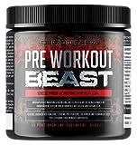 Pre Workout Beast (Beerengeschmack) - 40 Portionen (300g) - Hardcore Pre Workout Booster mit Kreatin Monohydrat, Koffein, Beta Alanin und Glutamin