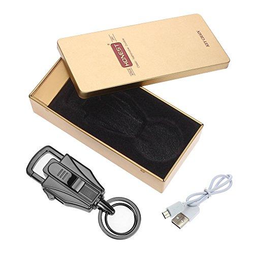 Elektronisches Feuerzeug von Outry, lichtbogenes Feuerzeug mit USB umweltfreundlich, windfest und schnell wieder aufladbar (Schwarz) -