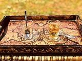Topkapi 18pezzi set da tè Leyla Turco di Sultan con decorazioni in oro, 6Bicchieri Da Tè, 6sottobicchieri, 6cucchiaini da tè