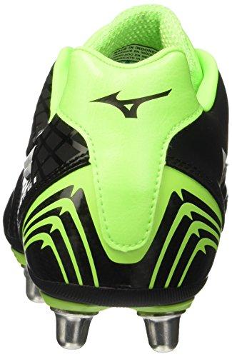 Mizuno Waitangi Ps, Chaussures de Rugby Homme Noir - Black (Black/White/Green Gecko)