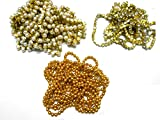 #2: Goelx Stone chain,pearl chain,golden ball chain combo for jewelry making, each 1 meter
