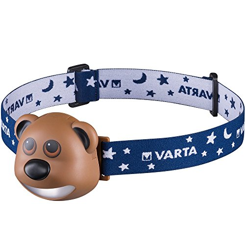 VARTA Paul the Bear LED Stirnlampe (Kopfleuchte geeignet für Kinder mit automatischer Abschaltfunktion, Kindertaschenlampe Leuchte Nachtlicht Flashlight für Kinderzimmer Schlafzimmer)