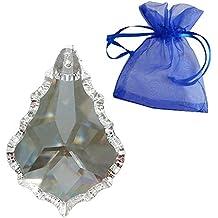 Cristallo pendolo 50mm arcobaleno cristallo barocco in grazioso sacchetto regalo–Feng Shui–esoterica–finestra gioielli–30% PbO cristallo al piombo–Impero–Cristalli appesi–lampadario appesi–Sfaccettato Cristallo Lampada