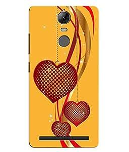 Citydreamz Red Hearts/Glitters/Love Hard Polycarbonate Designer Back Case Cover For Lenovo K5 Note