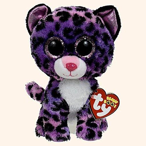 "Beanie Boo Leopard - Jewel - Purple - 15cm 6"""