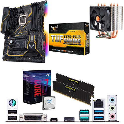 Components4All Intel Coffee Lake Core i7 8700k 3 7GHz (4 7GHz Turbo) CPU,  ASUS TUF Z370-PLUS GAMING Motherboard, 16GB 3200MHz Corsair DDR4 RAM &