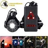 WESTLIGHT Lauflicht, wiederaufladbare USB LED Lauflampe Sport, wasserdicht, leichtgewichtige Lampe zum Laufen, 500 Lumen, Einstellbarer Abstrahlwinkel, perfektes Licht zum Joggen, Angeln, Campen, für Kinder und mehr