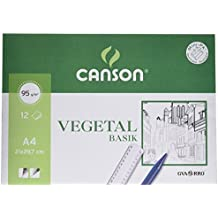 Canson 407621 - Papel vegetal, 12 hojas