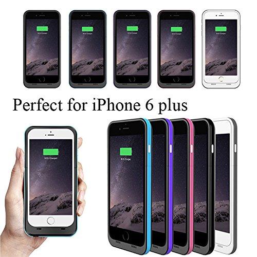 Ultra® 5.5 nero e Purple iphone 6 plus 6s plus Power Bank Charger Case per Plus 6800 mah 5.5 modelli di Apple iPhone 6 6s sottile ricaricabile esterna ricambio backup estesi charger batteria coperch blu et nero